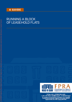 FPRA Running a Block of Leashold Flats